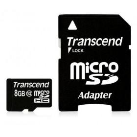 Transcend TS8GUSDHC10 8GB MicroSDHC Classe 10 memoria flash