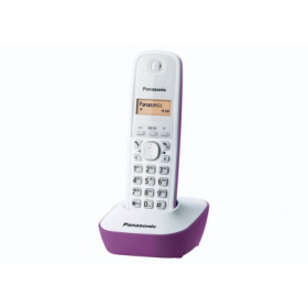 Panasonic KX-TG1611 Telefono DECT Viola, Bianco Identificatore di chiamata