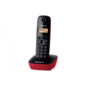 Panasonic KX-TG1611 Telefono DECT Nero, Rosso Identificatore di chiamata