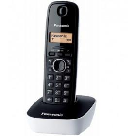 Panasonic KX-TG1611 Telefono DECT Nero, Bianco Identificatore di chiamata
