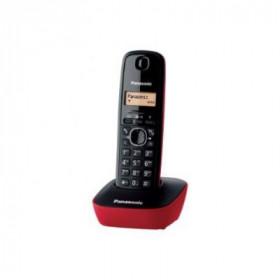 PANAS TEL.CORDLESS KX-TG1611JTR RED colore rosso,display lcd, 50mem.