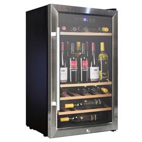 VINUMDesign - Cantina Vino VD60SCSW con Porta in Acciaio Inox e Vetro da 49,5cm